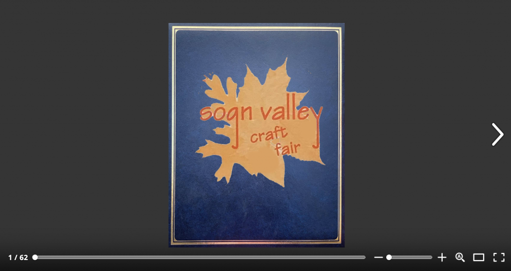 Sogn Valley Craft Fair issuu screenshot