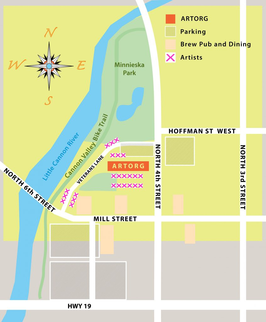 Map of festivities in Cannon Falls